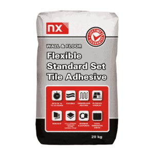 NX White, Standard Set, Flexible Tile Adhesive – 20Kg