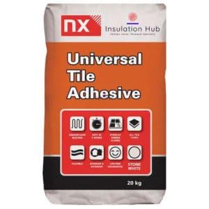 NX White Flexible Rapid Set Tile Adhesive