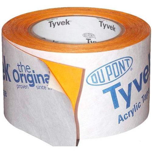 DuPont Tyvek 2060B Single Sided Acrylic Tape 75mm x 25m Roll, Breather Membrane Tape, Tyvek Tape, tyvek Dupont, Tyvek Single Sided Acrylic Tape
