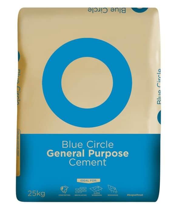 Blue Circle Cement, General Purpose Cement, Paper Bag, 25kg, Cheap Cement, London, Birmingham, Manchester, Scotland, Bristol, Wales